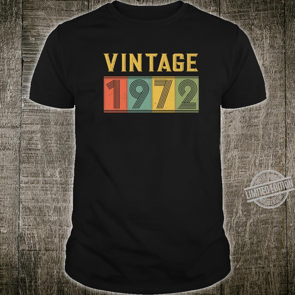 1972 48th Birthday Vintage Retro 48 Years Old Bday Shirt
