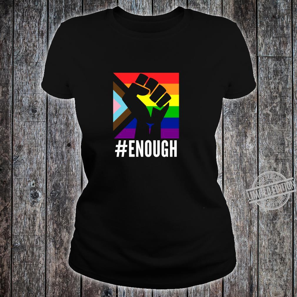 Anti Racist Fuck Racism Equal Rights Equality Protest LGBT Shirt ladies tee