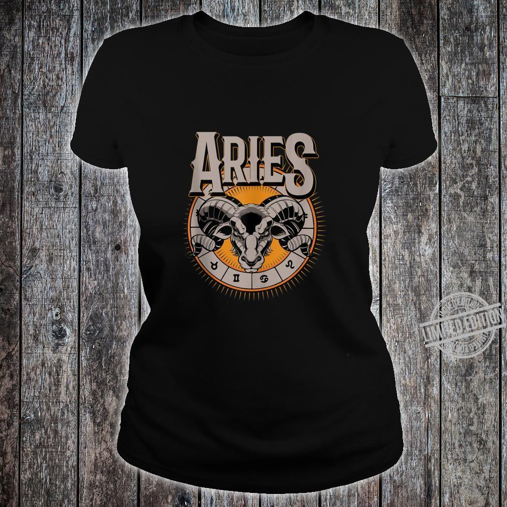 Aries Horoscope Birthday King Of The Stars Shirt ladies tee