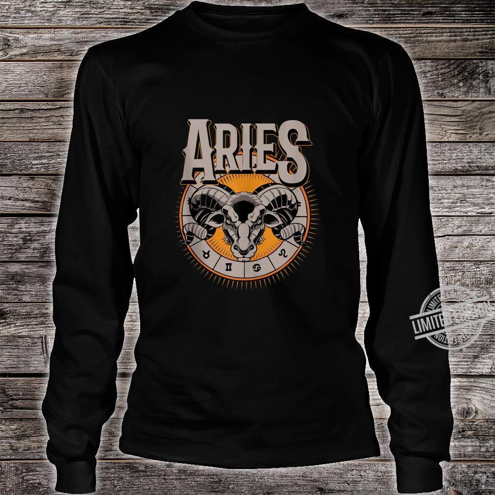 Aries Horoscope Birthday King Of The Stars Shirt long sleeved