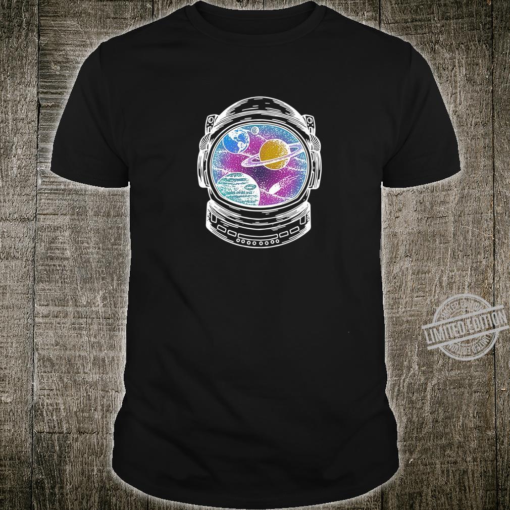 Astronaut Helmet Galaxy Wanderer Shirt