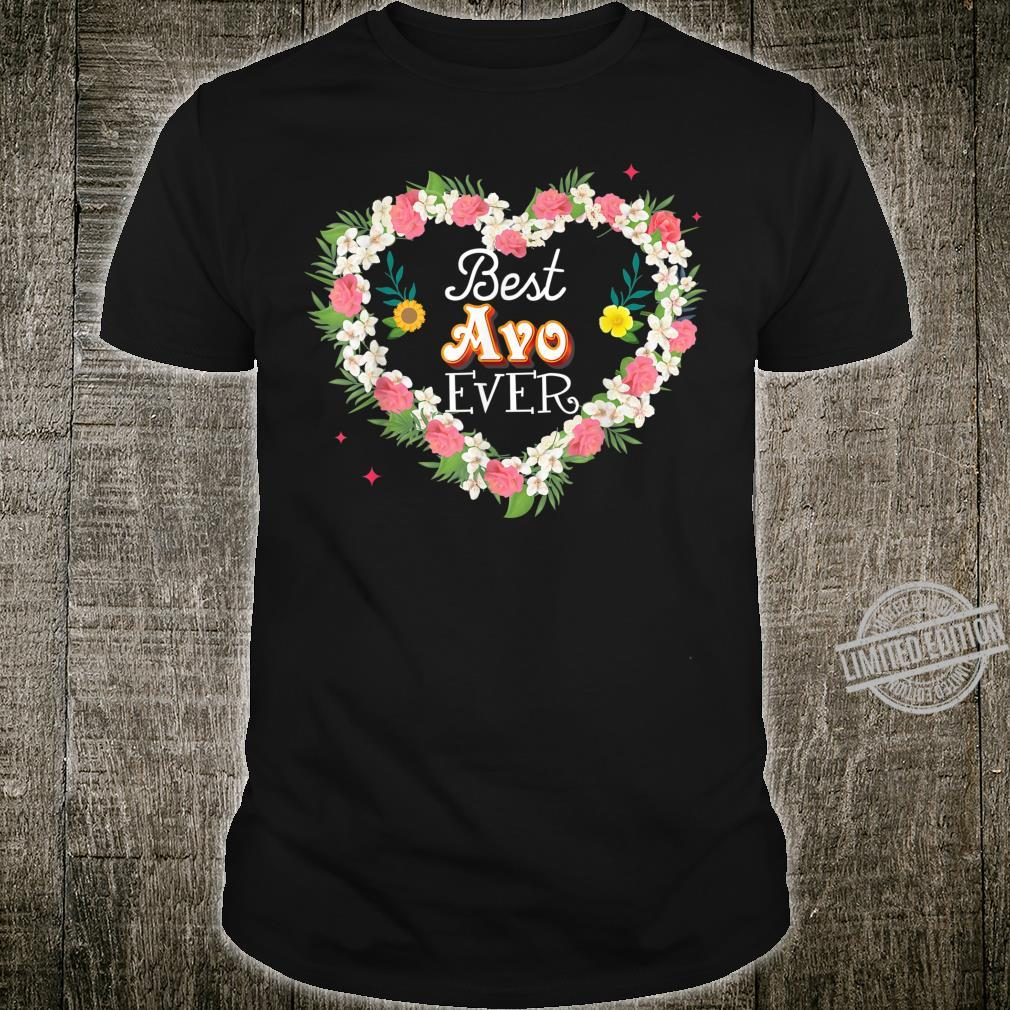 Best Avo Ever Floral Heart Mother's Day Mommy Father's Shirt