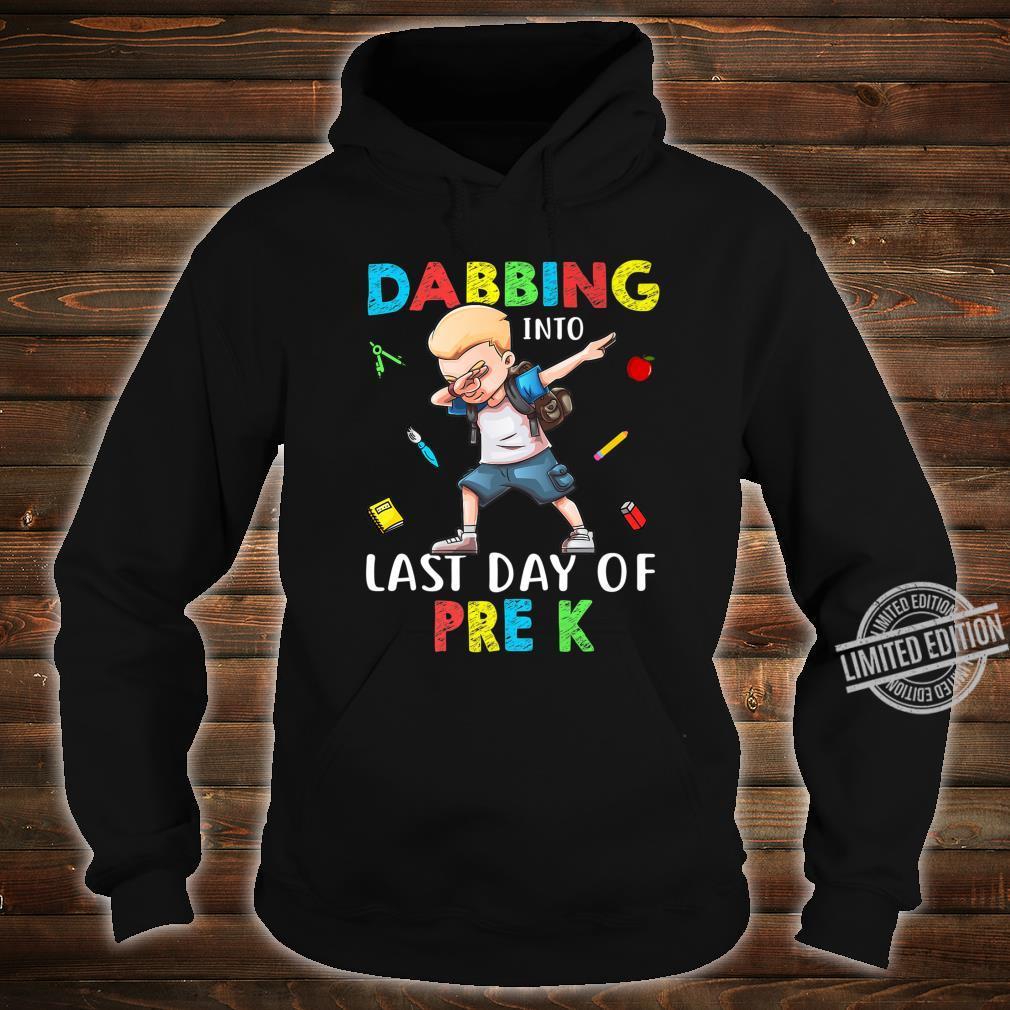 Boy Dabbing Into Last Day Of Pre K Shirt hoodie