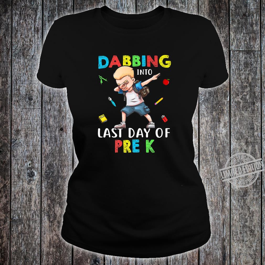 Boy Dabbing Into Last Day Of Pre K Shirt ladies tee
