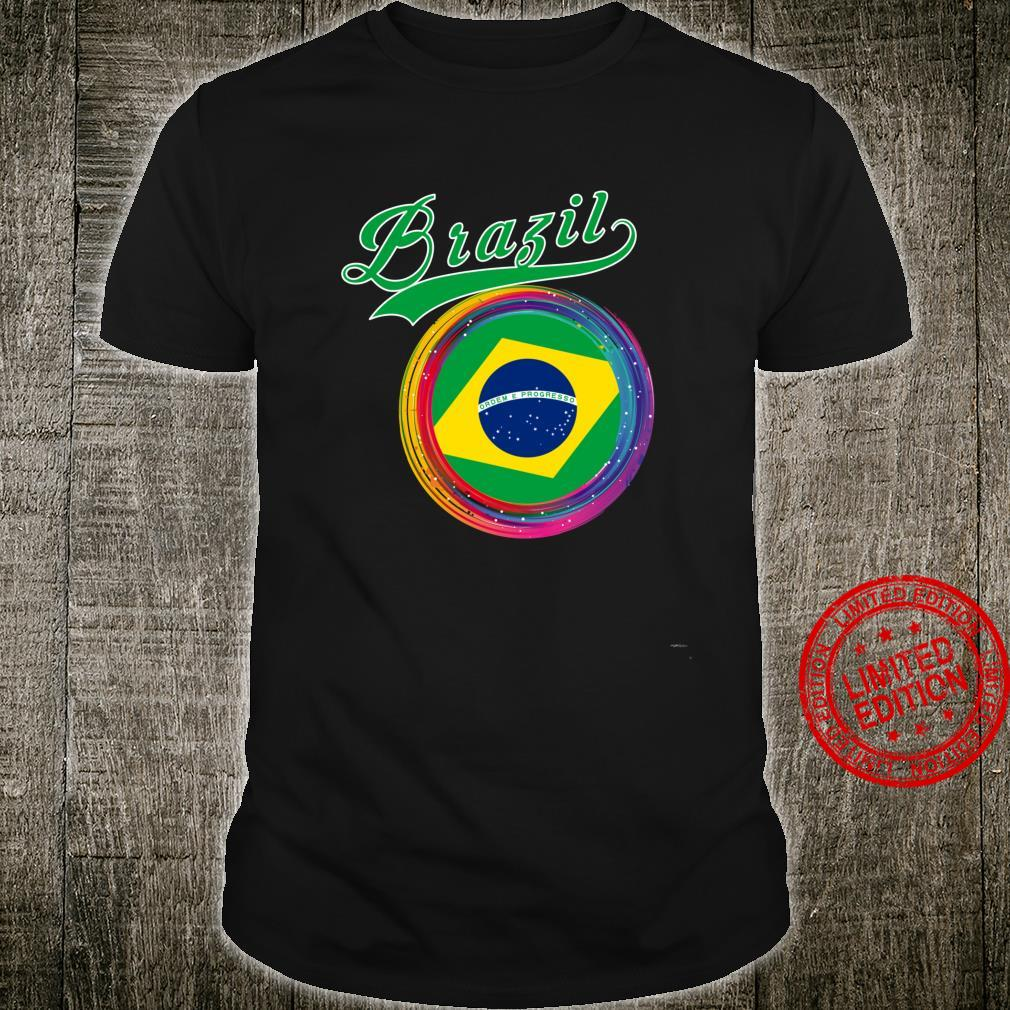 Brazil Sports Holi Color Framed Brazil Flag Shirt
