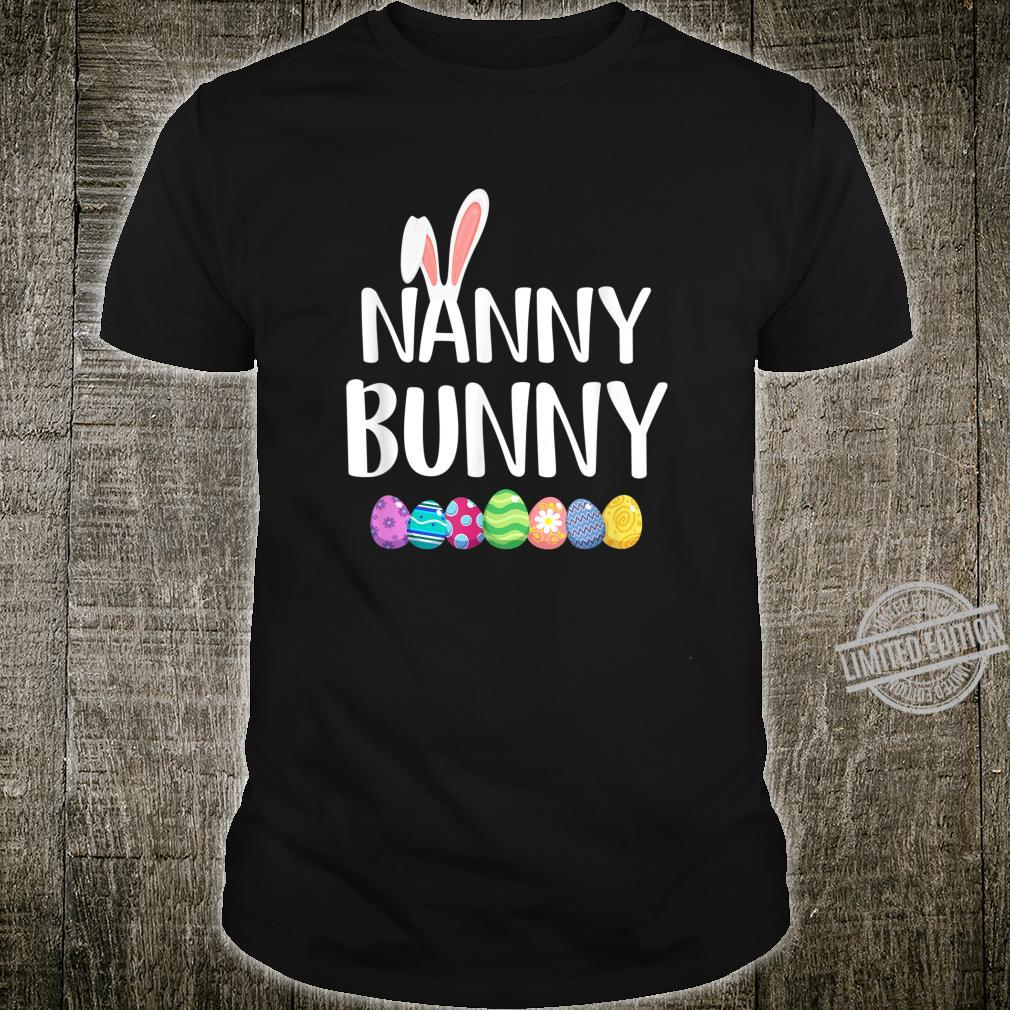 Bunny Nanny Easter Eggs Happy Easter Day Shirt