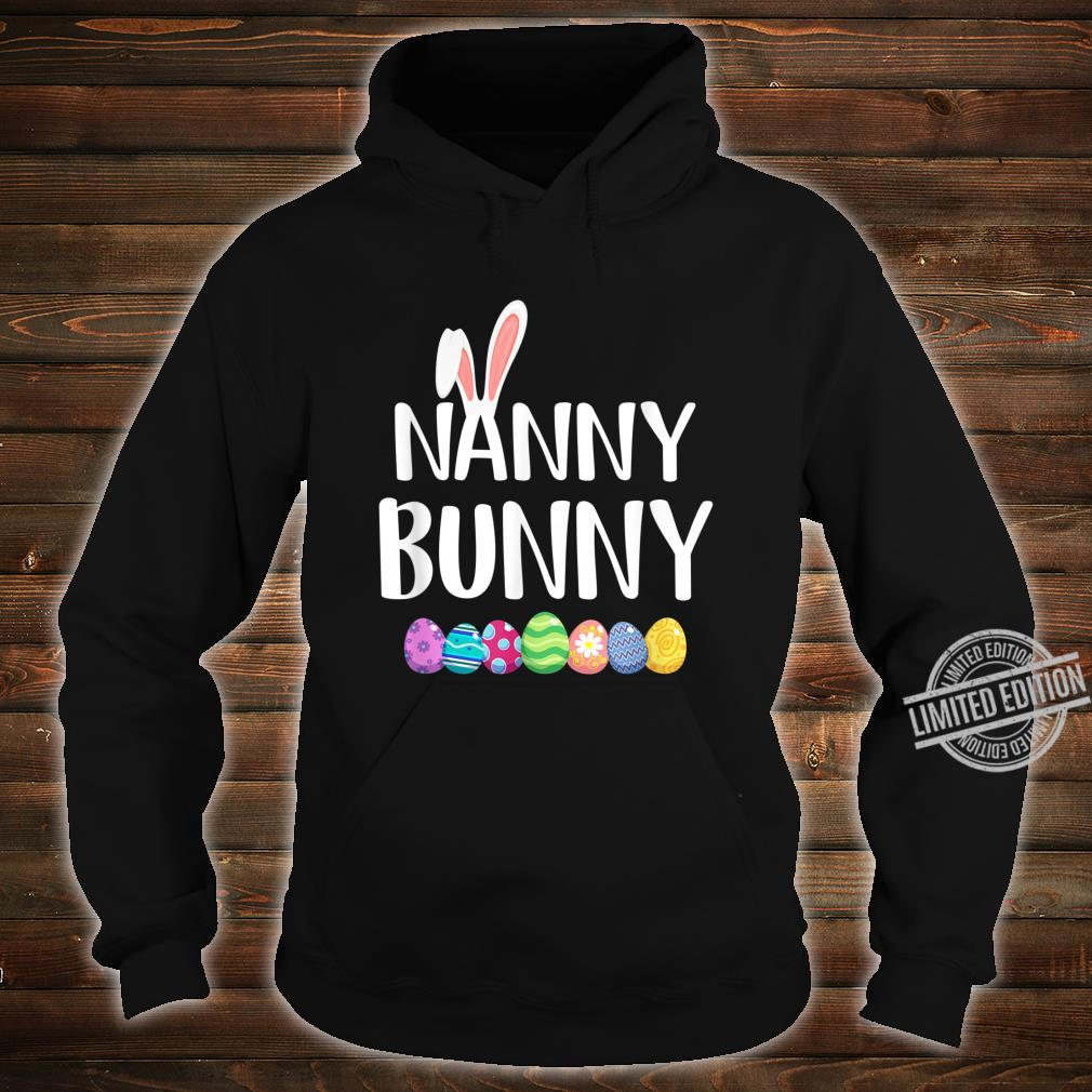 Bunny Nanny Easter Eggs Happy Easter Day Shirt hoodie