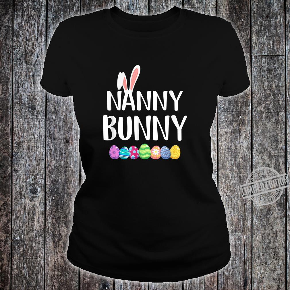 Bunny Nanny Easter Eggs Happy Easter Day Shirt ladies tee