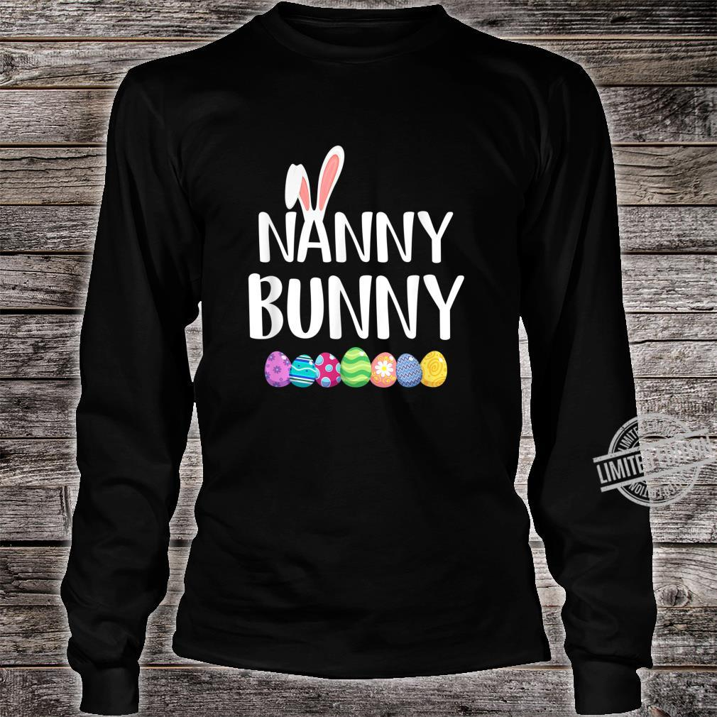 Bunny Nanny Easter Eggs Happy Easter Day Shirt long sleeved