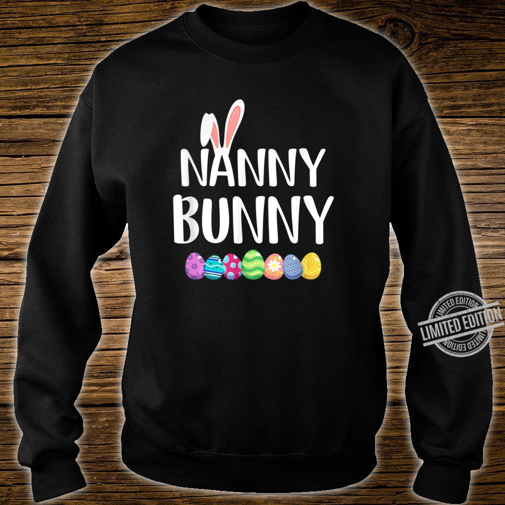 Bunny Nanny Easter Eggs Happy Easter Day Shirt sweater