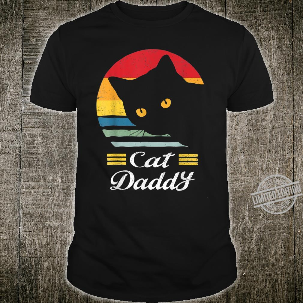 Cat Daddy Vintage Eighties Style Cat Retro Distressed Shirt