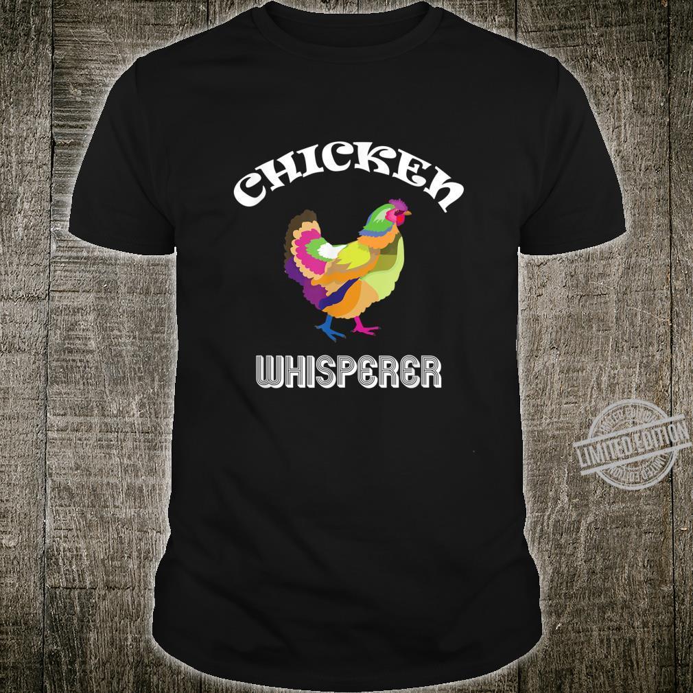 Chicken Whisperer Farm Farmer Rainbow Hen Shirt