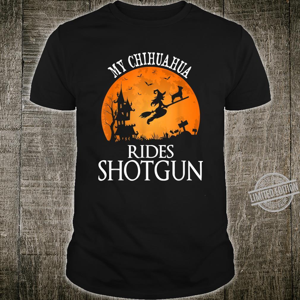 Chihuahua Rides Shotgun Dog Halloween Party Shirt
