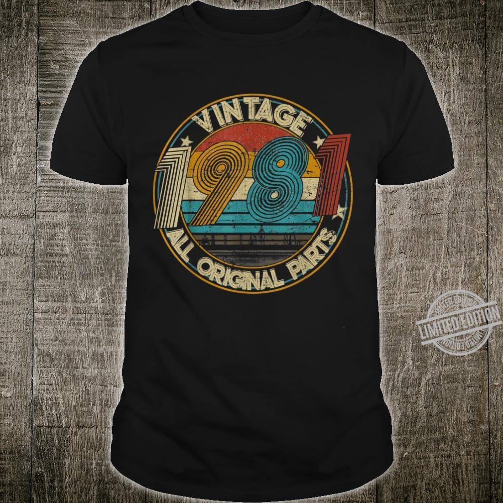 Classic 39th birthday Vintage 1981 Shirt