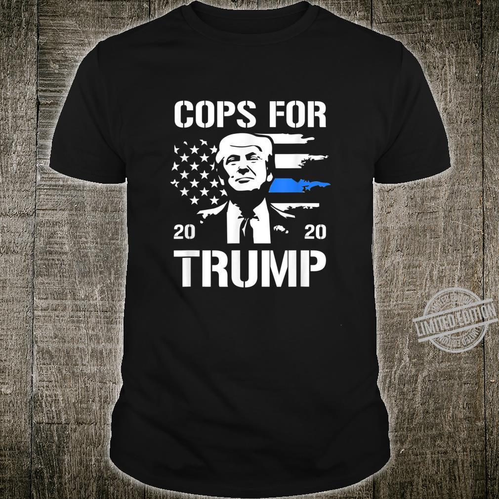 Cops For Trump 2020 Thin Blue Line Shirt
