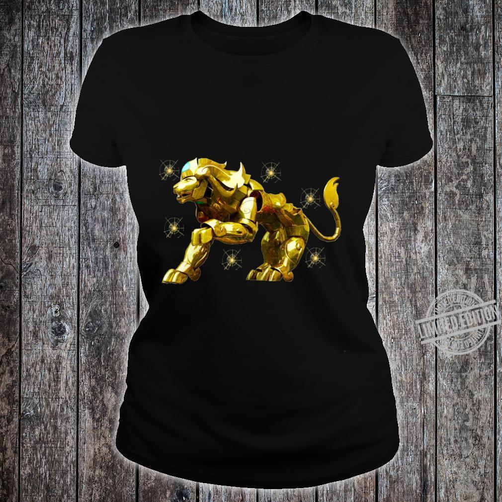 Copy of SAINT SEIYA AIORIA LEO GOLD CLOTH AIORIA GOLDEN CLOTH ARMADURA DORADA CABALLEROS DEL ZODIACO Racerback Shirt ladies tee