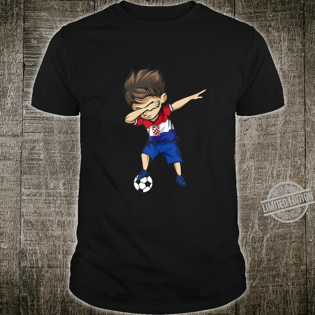 Dabbing Soccer Boy Croatia Jersey Croatian Football Shirt