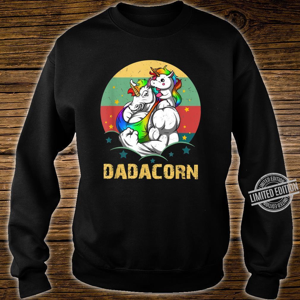 Dadacorn Daddycorn Unicorn Dad Muscular Father's Day Shirt sweater