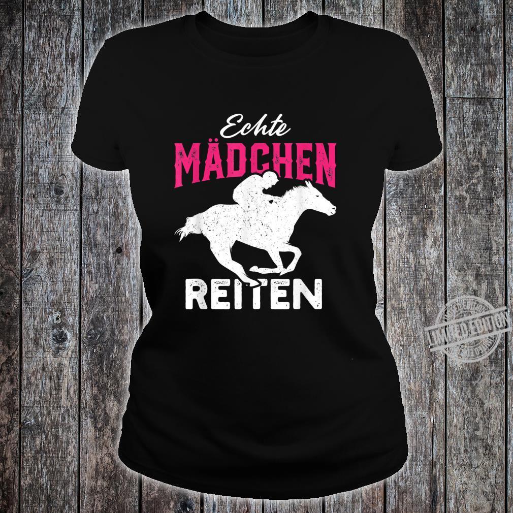 Echte Mädchen reiten Haflinger Isländer Liebe Shirt ladies tee