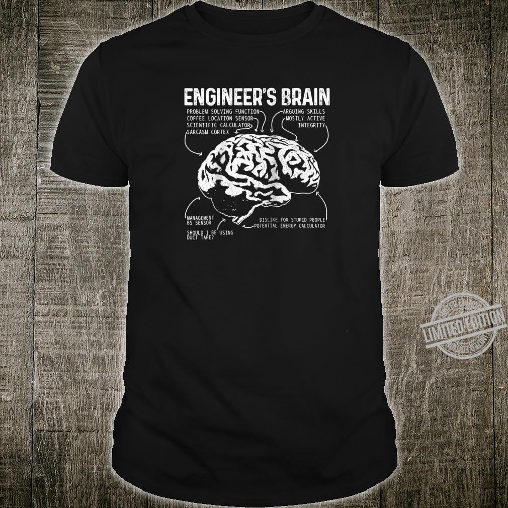 Engineers Brain Nerd Engineering Student Shirt