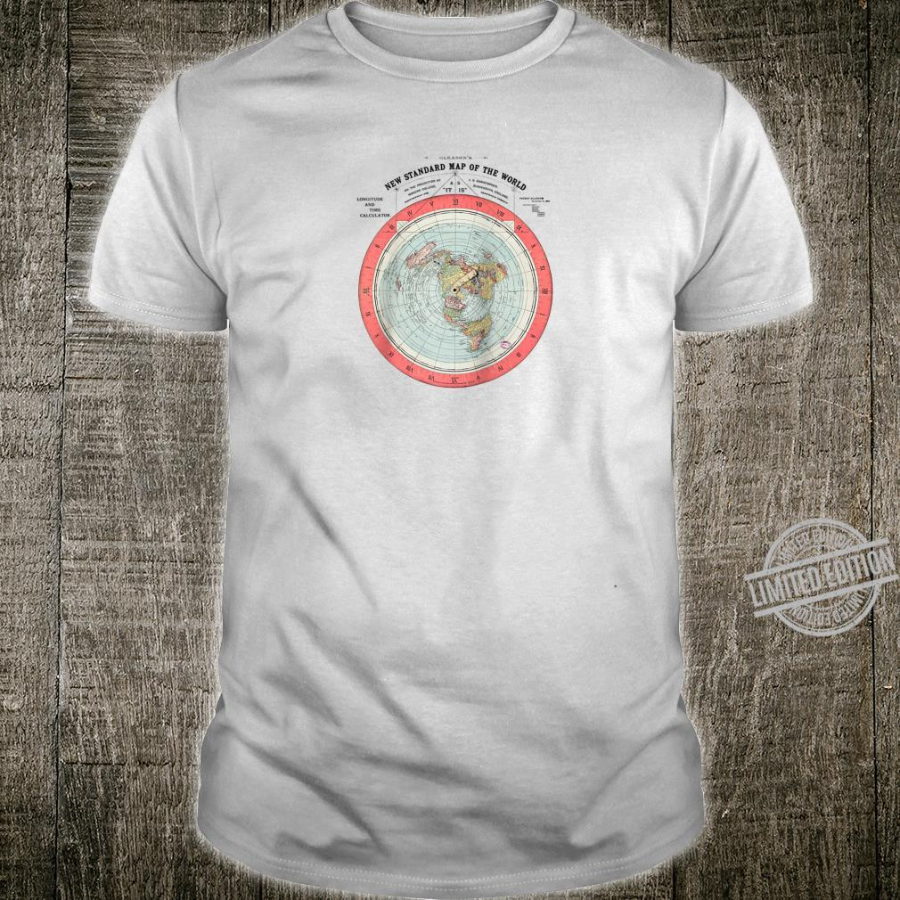 Flat Earth Theory World Map Conspiracy Theory Shirt