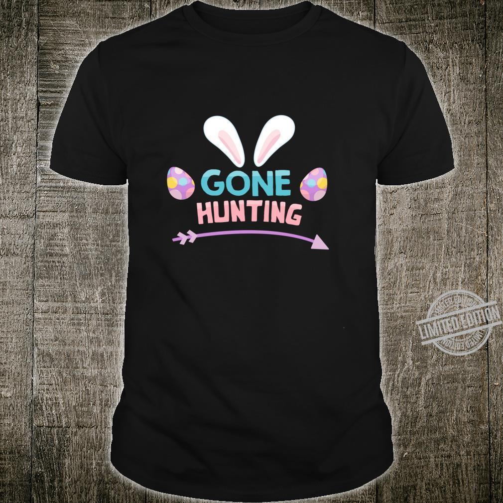Funny Easter Basket Egg Gone Hunting Boys Girls Shirt