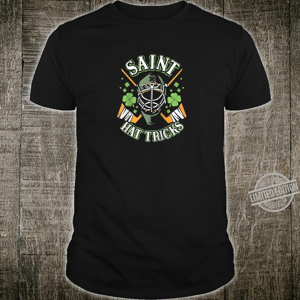 Funny Hockey Shirt and Boys Saint Hat Tricks Day Shirt