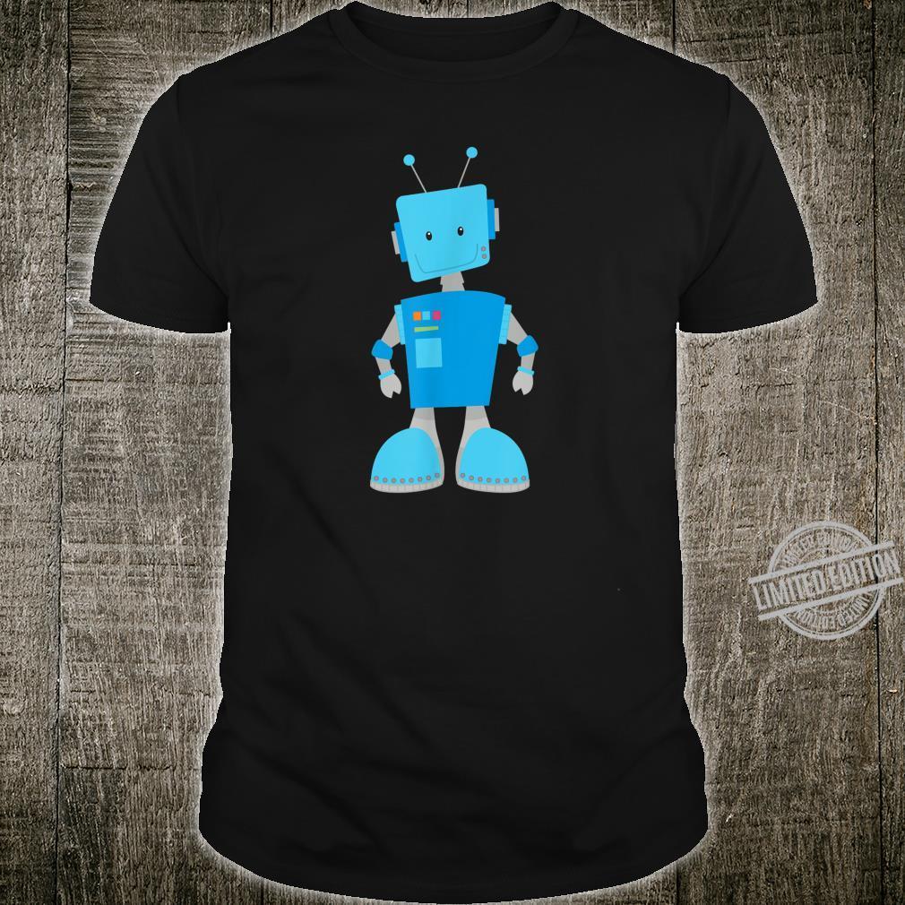 Funny Robot Shirt Blue Robot Cute Science Robots Shirt