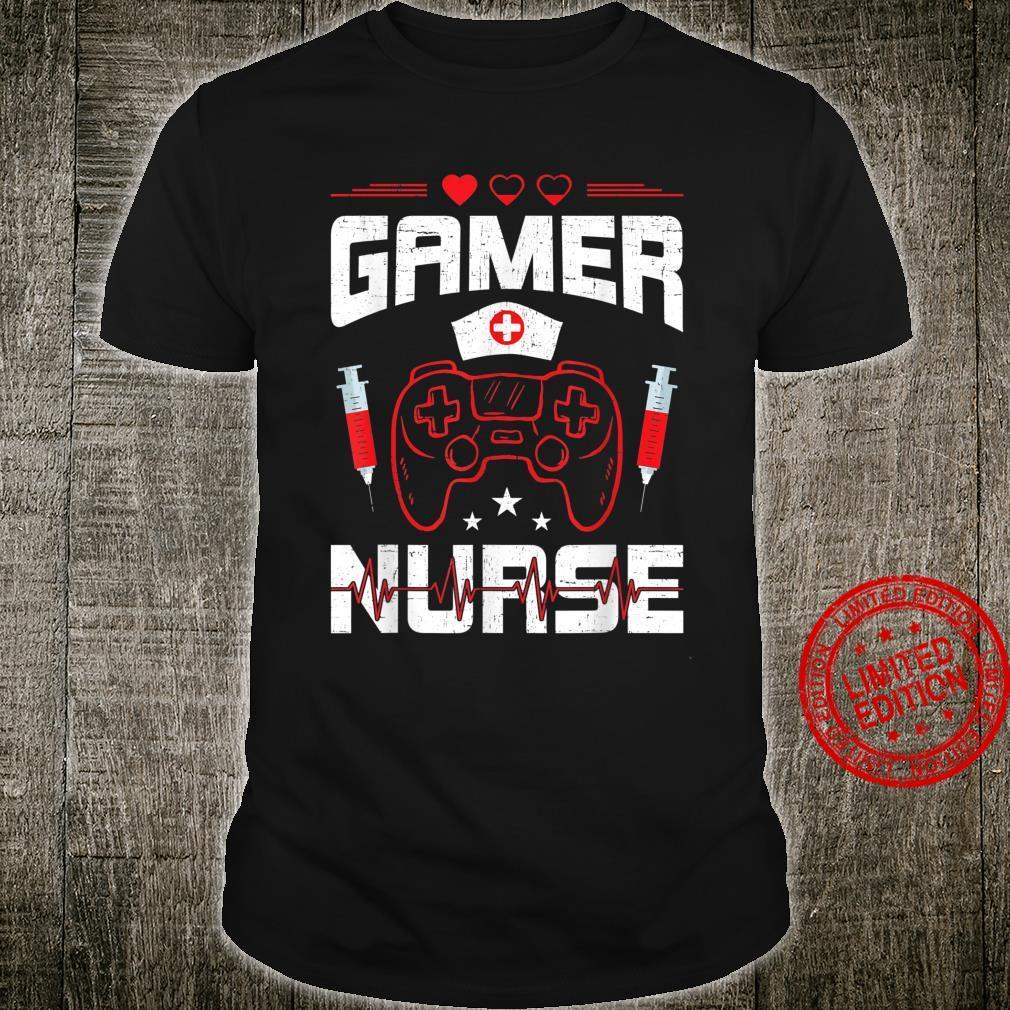 Gamer Nurse Video Gamer Gaming Shirt