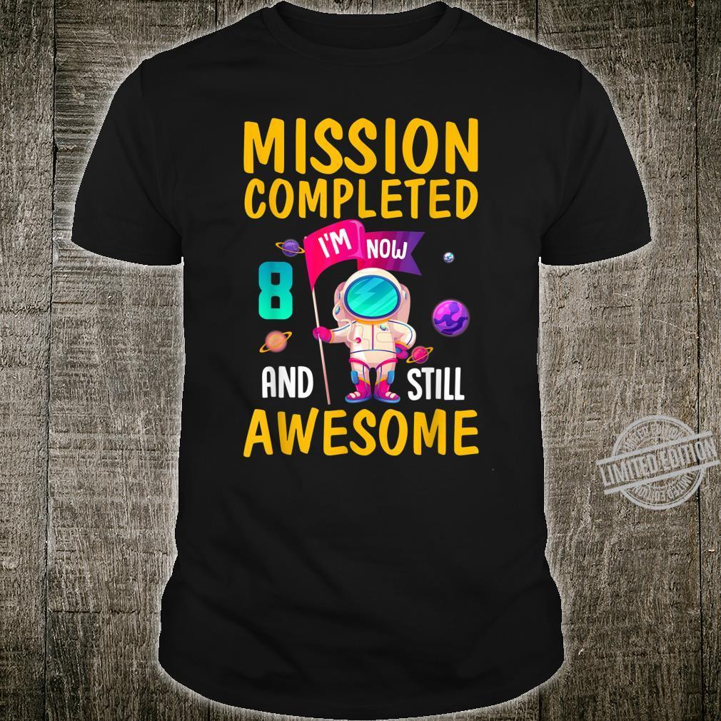 Gift 8th Birthday Shirt 8 Year Old Space Boys Astronaut Shirt