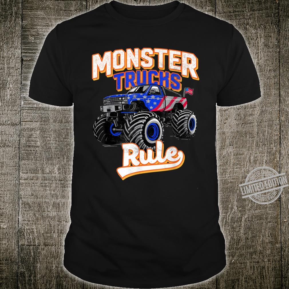 Gift For Youth Toddlers And Adults Monster Truck Rule Shirt