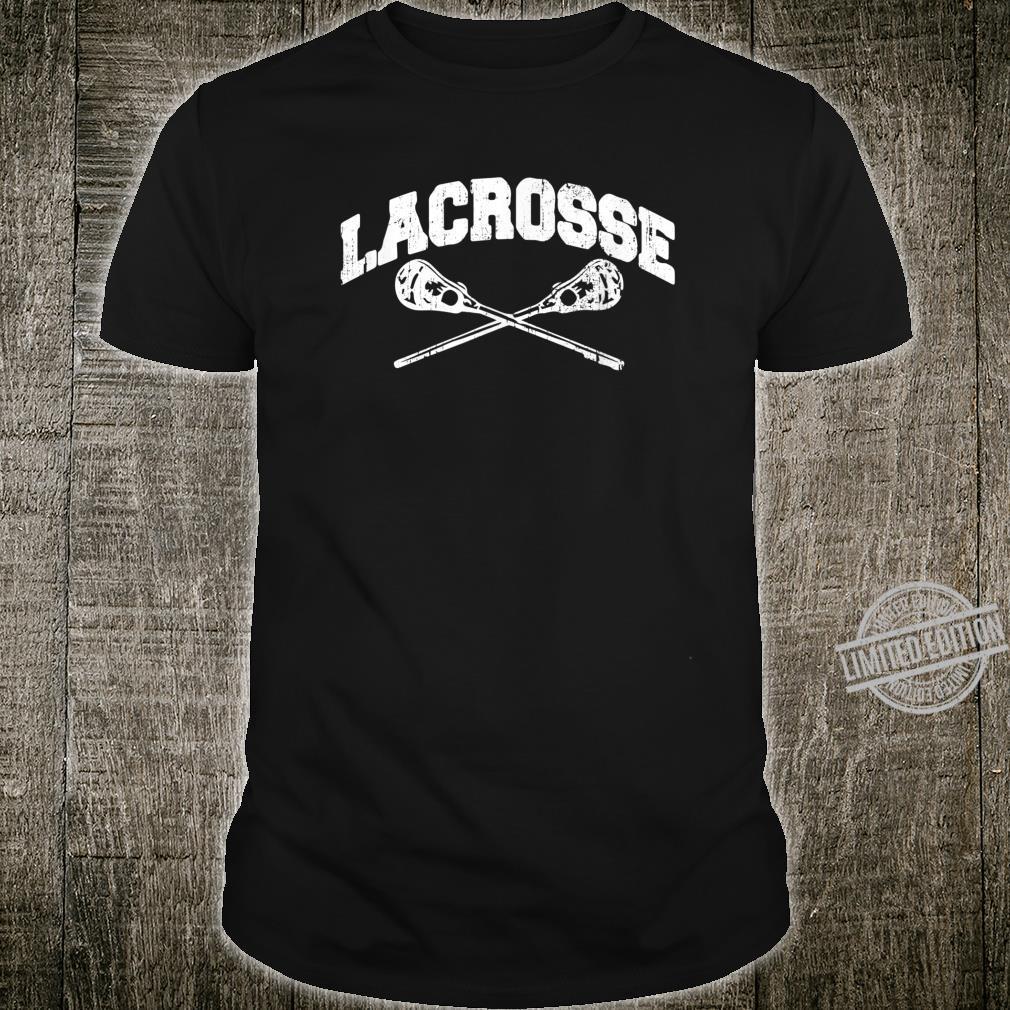 LACROSSE Crossed Sticks Lax Player Boys Girlsns Vintage Shirt