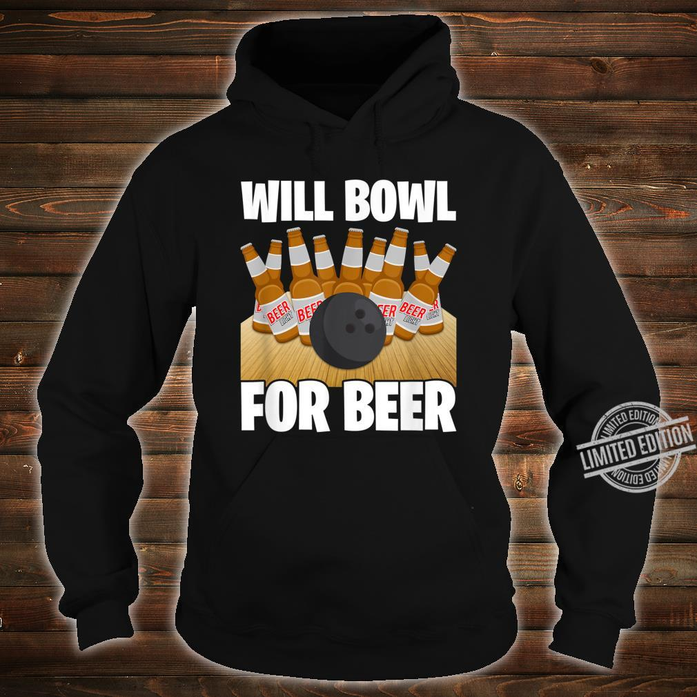 Mens Will Bowl For Beer Bowling Shirt hoodie
