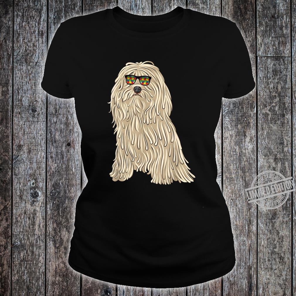 Puli Sunglasses Autism Awareness Dog Shirt ladies tee
