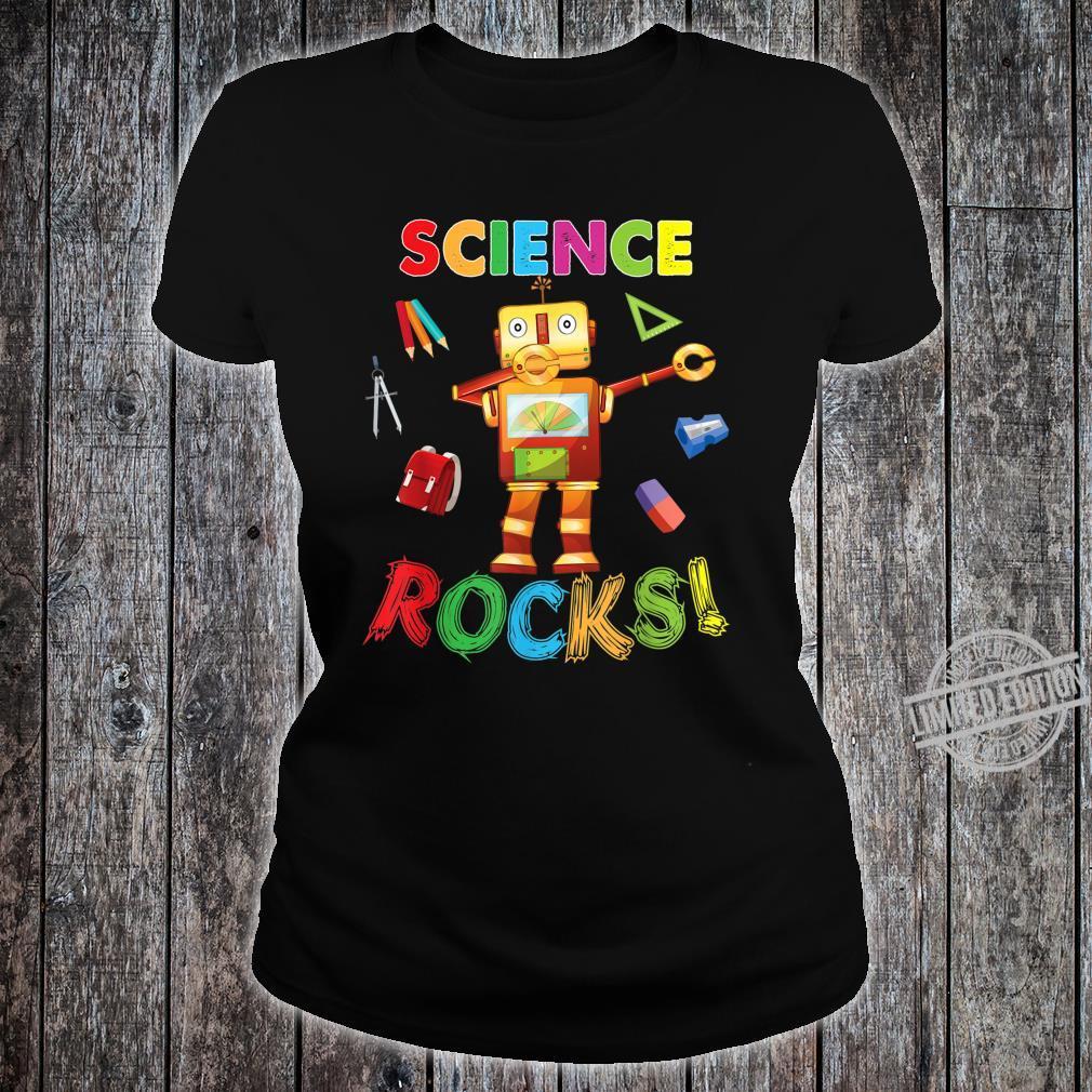 Science Rocks Teacher Student Back To School Dabbing Shirt ladies tee