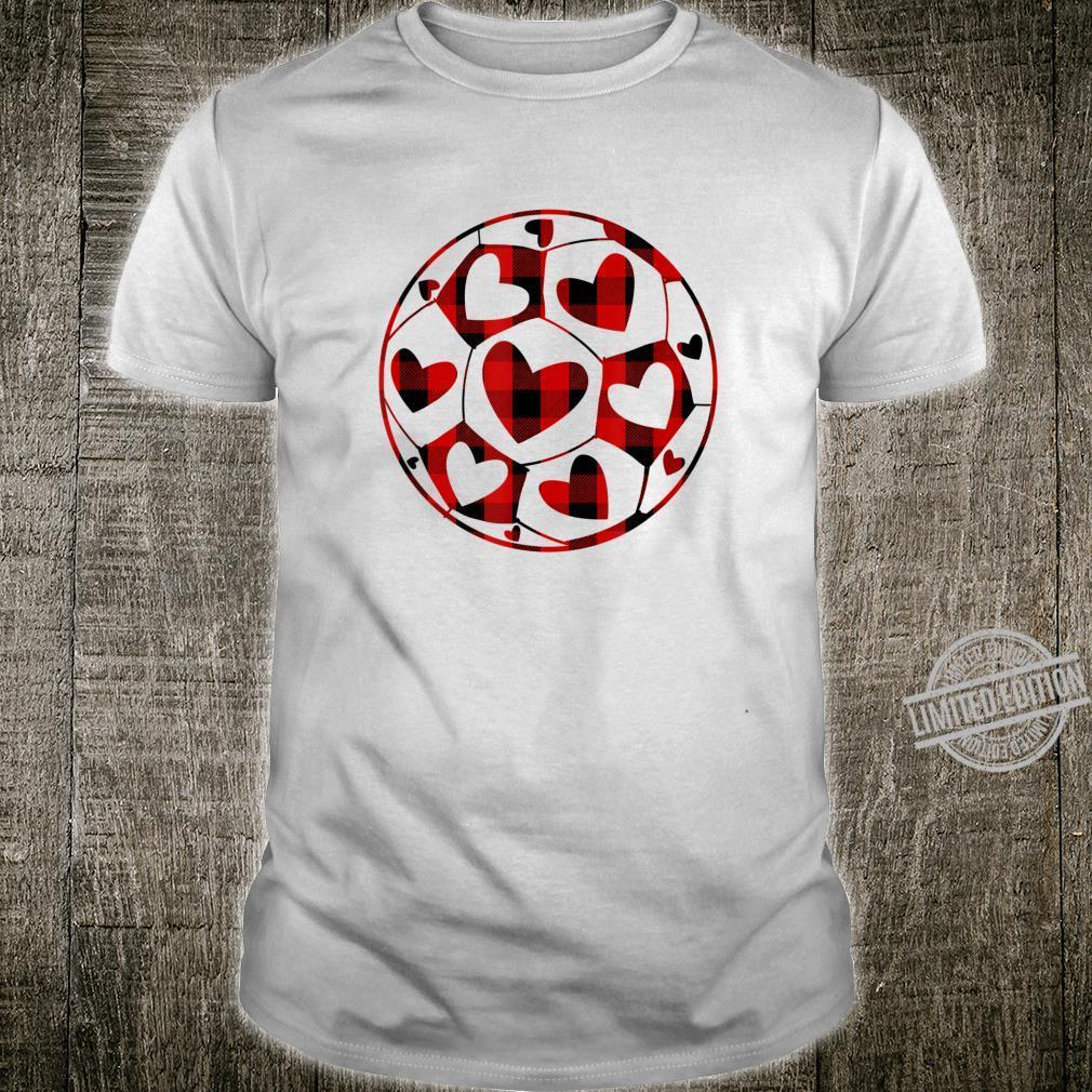Soccer Coach Hearts Buffalo Plaid Valentine's Day Shirt