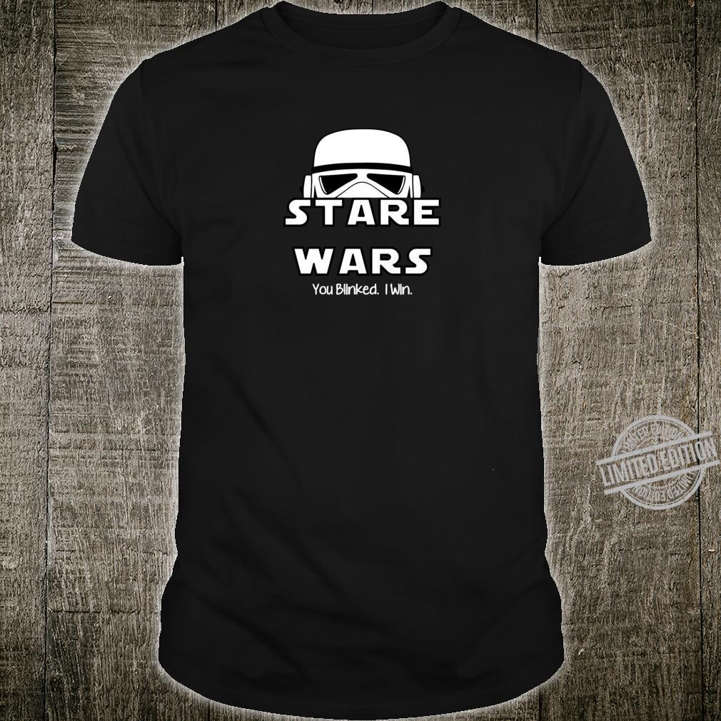 Stare Wars Du blinzelten Ich gewinne Trooper Staring Spiel Shirt