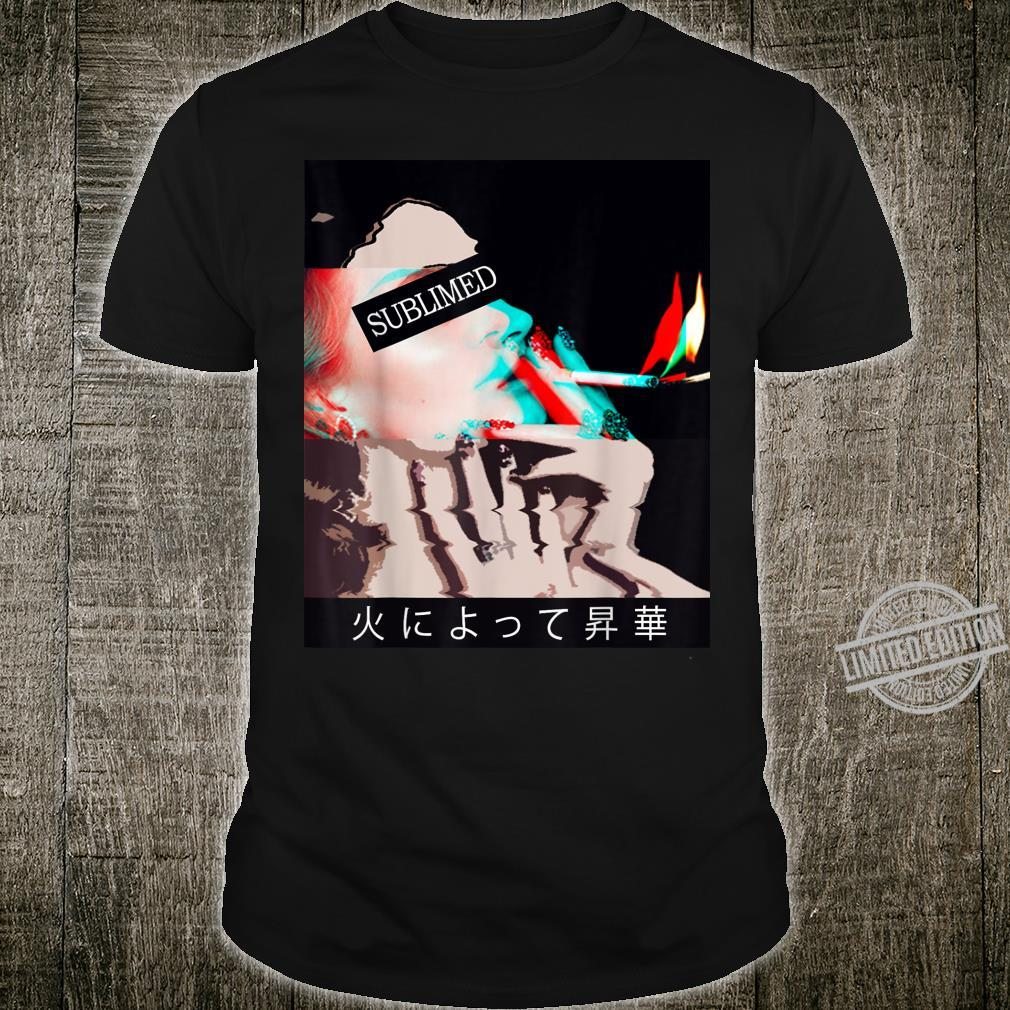 Sublimed By Fire Vaporwave Aesthetic Shirt