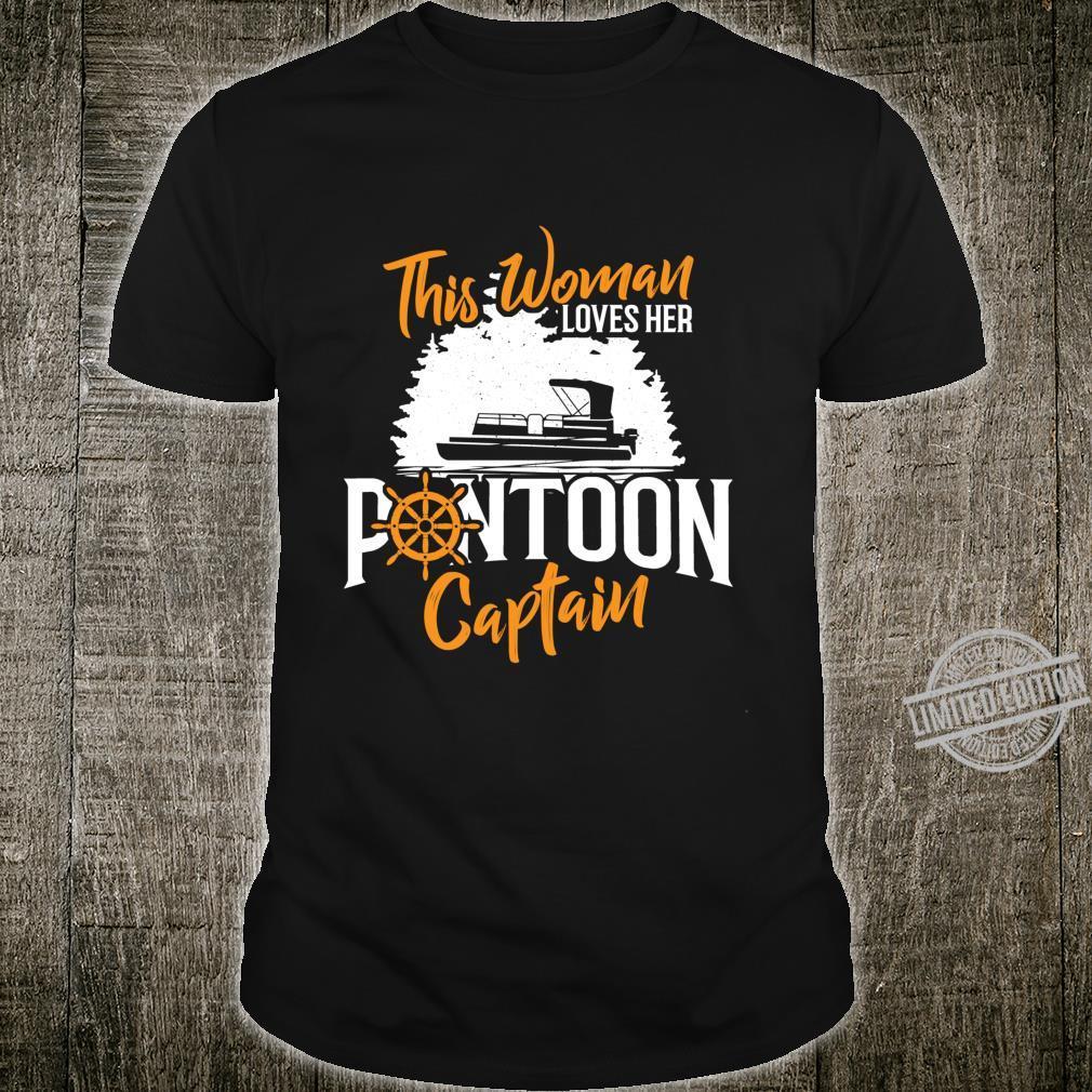 This Loves Her Pontoon Captain Boating Boat Skipper Shirt