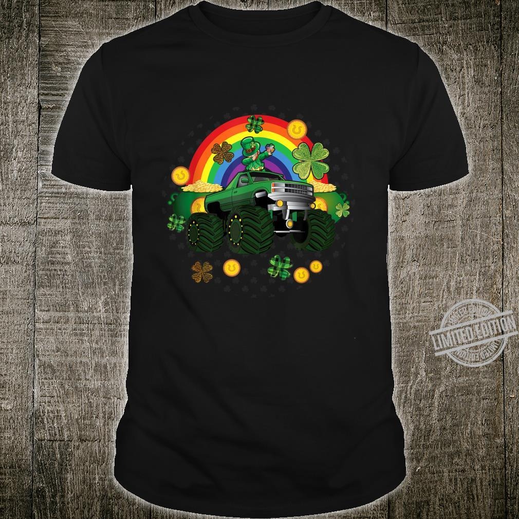 Toddler St Patricks Day Monster Truck Dabbing Leprechaun Boy Shirt