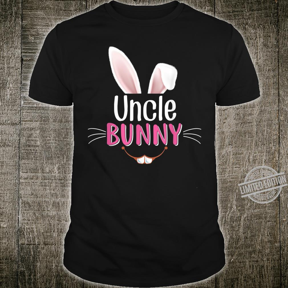 Uncle Bunny Ears Face Matching Family Rabbit Easter Egg Hunt Shirt