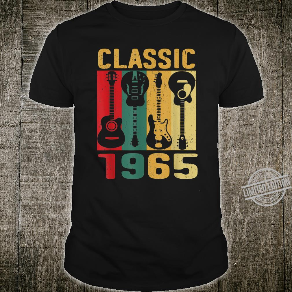 Vintage 1965 Shirt 55th Birthday For Guitar Shirt