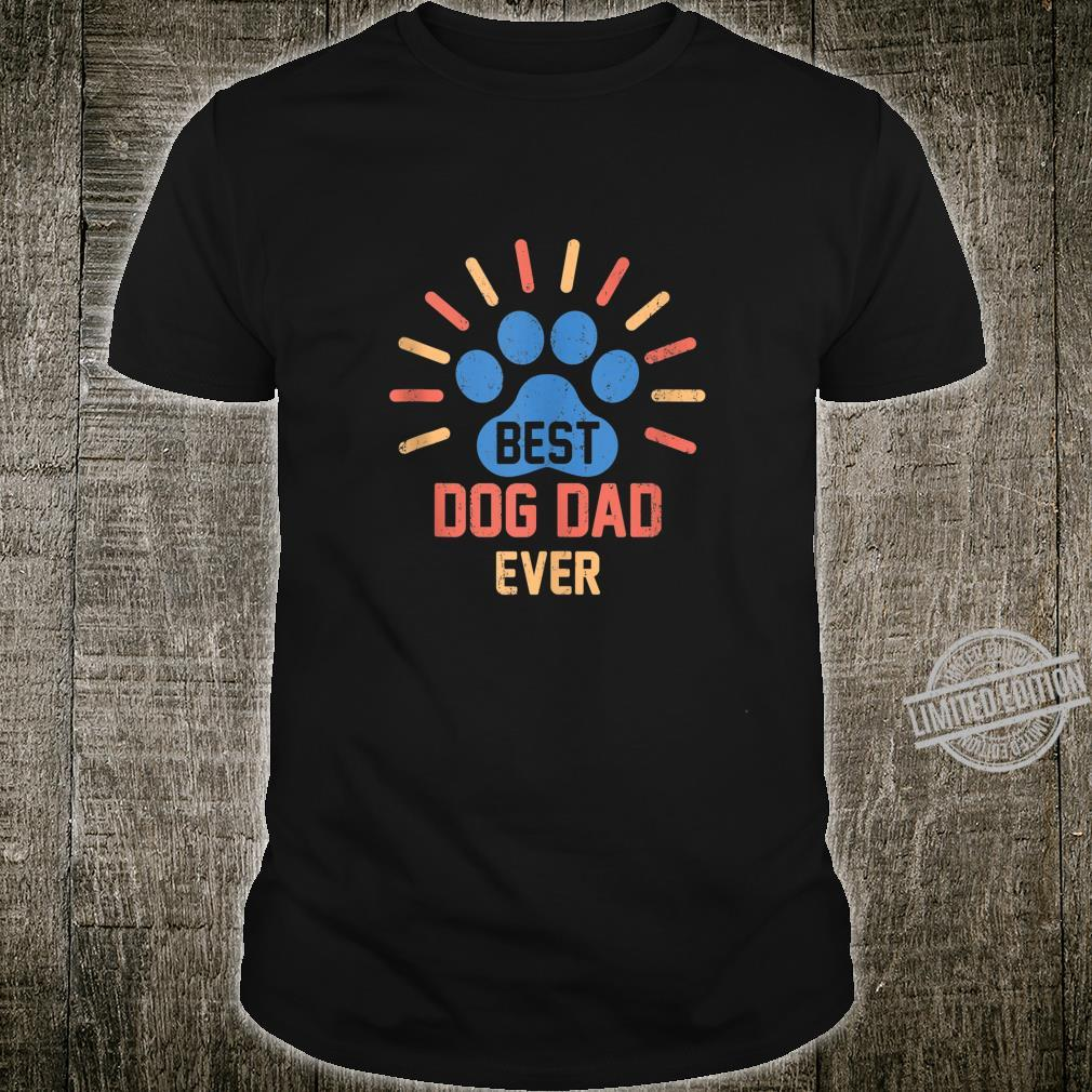 Vintage Dog Dad Shirt Cool Father's Day Retro Shirt
