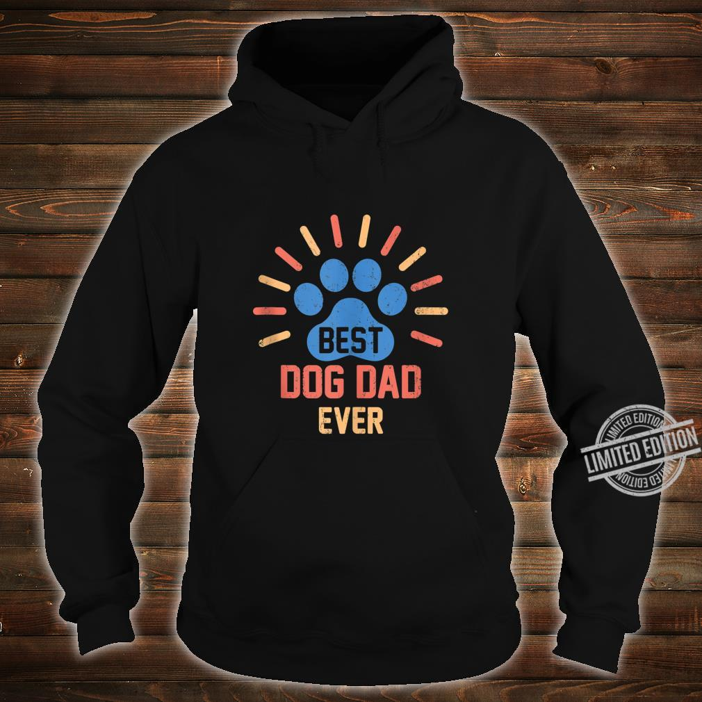 Vintage Dog Dad Shirt Cool Father's Day Retro Shirt hoodie