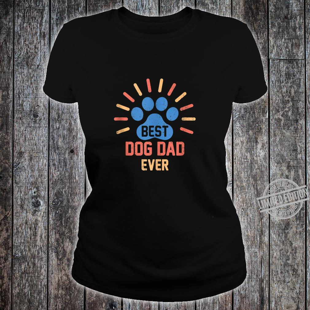 Vintage Dog Dad Shirt Cool Father's Day Retro Shirt ladies tee