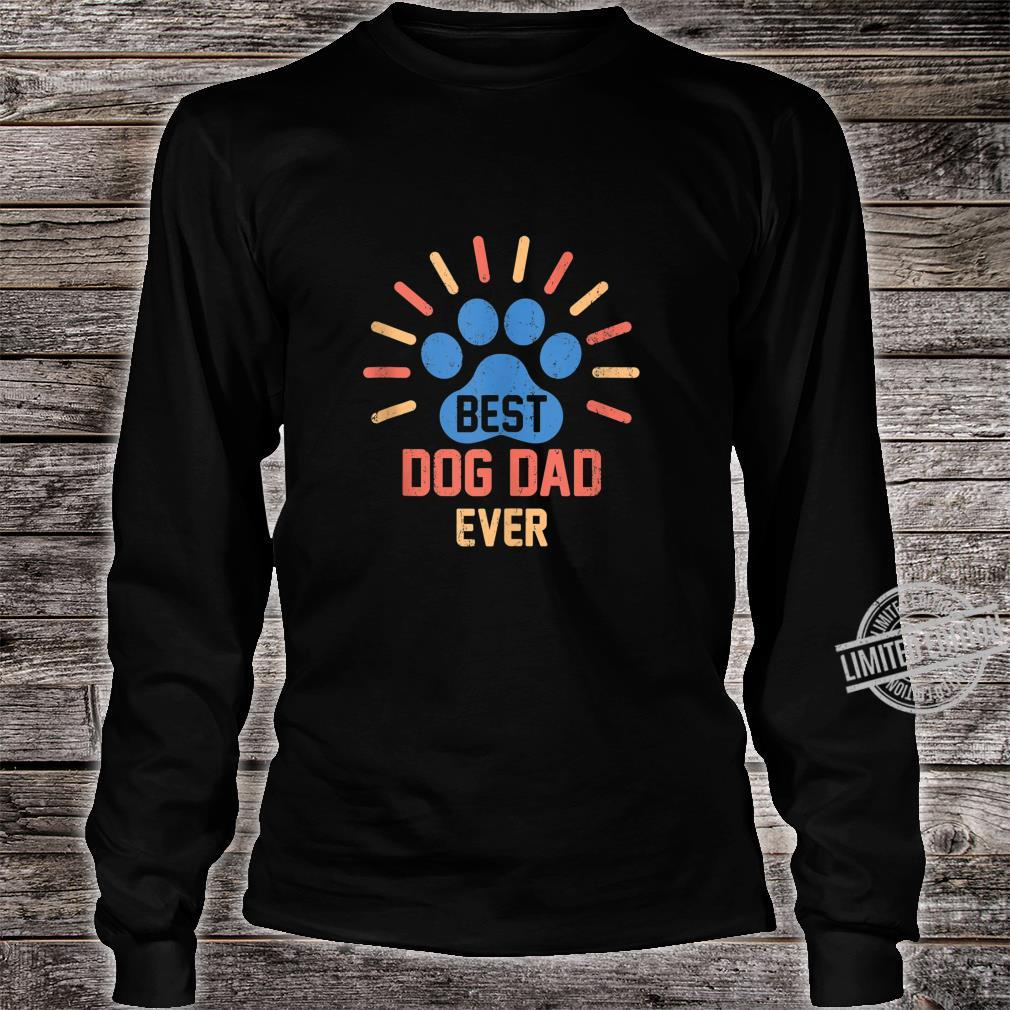Vintage Dog Dad Shirt Cool Father's Day Retro Shirt long sleeved