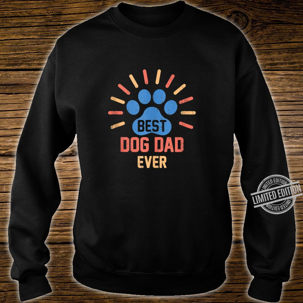 Vintage Dog Dad Shirt Cool Father's Day Retro Shirt sweater
