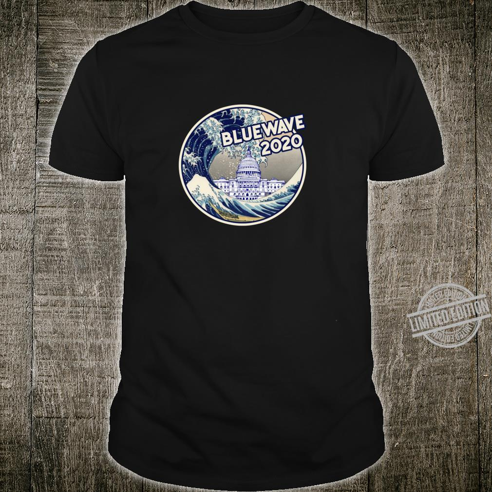 Vote Blue Wave 2020 The Great Wave Over the White House Shirt