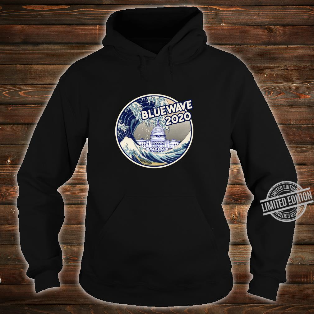 Vote Blue Wave 2020 The Great Wave Over the White House Shirt hoodie