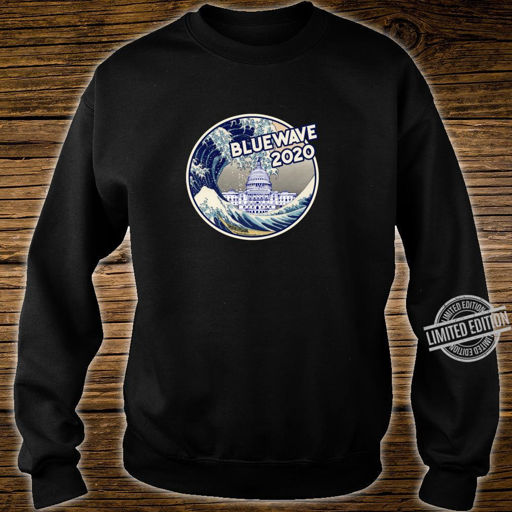 Vote Blue Wave 2020 The Great Wave Over the White House Shirt sweater